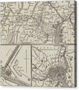 Map Illustrating General Lee's Advance Into Pennsylvania  Acrylic Print