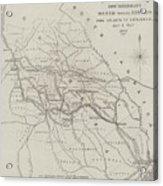 Map Illustrating General Sherman's March Through Georgia  Acrylic Print