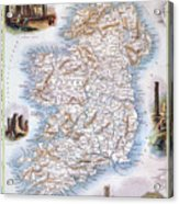 Map: Ireland, 1851 Acrylic Print