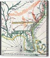 Map: North America, 1742 Acrylic Print