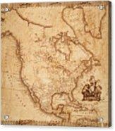 Map Of America 1800 Acrylic Print