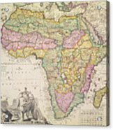 Map Of Africa Acrylic Print by Pieter Schenk