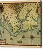Map Of America 1590 Acrylic Print