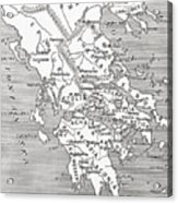 Map Of Ancient Greece Acrylic Print