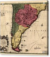 Map Of Argentina 1700 Acrylic Print