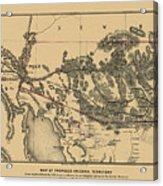 Map Of Arizona 1857 Acrylic Print