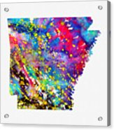 Map Of Arkansas-colorful Acrylic Print