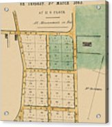Map Of Auckland 1863b Acrylic Print