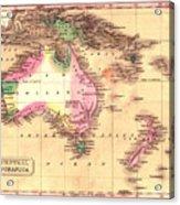 Map Of Australia 1828 Acrylic Print