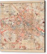 Map Of Berlin 1895 Acrylic Print