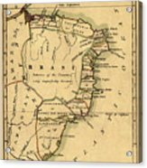 Map Of Brazil 1808 Acrylic Print