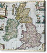 Map Of Britain Acrylic Print by English school
