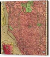 Map Of Buffalo 1896 Acrylic Print