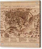 Map Of Cairo 1600 Acrylic Print