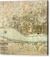 Map Of Calcutta 1857 Acrylic Print
