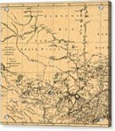 Map Of Canada 1762 Acrylic Print