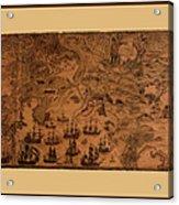 Map Of Cape Breton 1764 Acrylic Print