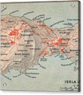 Map Of Capri 1909 Acrylic Print