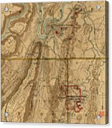 Map Of Chattanooga 1895 Acrylic Print