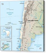Map Of Chile 2  Acrylic Print