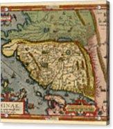 Map Of China 1590 Acrylic Print