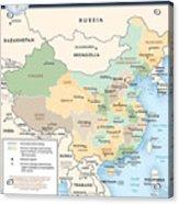 Map Of China Acrylic Print