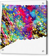 Map Of Connecticut-colorful Acrylic Print