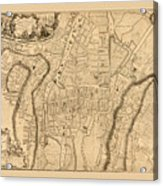 Map Of Cork 1771 Acrylic Print