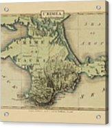 Map Of Crimea 1815 Acrylic Print