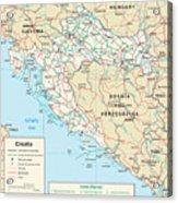 Map Of Croatia Acrylic Print