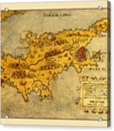 Map Of Cyprus 1562 Acrylic Print