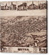 Map Of Dover 1885 Acrylic Print