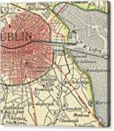 Map Of Dublin Acrylic Print