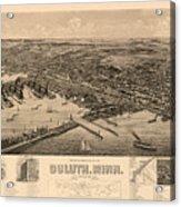 Map Of Duluth 1893 Acrylic Print