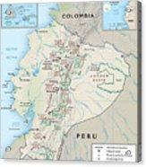 Map Of Ecuador 2 Acrylic Print