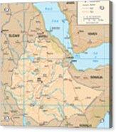 Map Of Ethiopia Acrylic Print