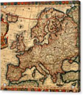 Map Of Europe 1700 Acrylic Print