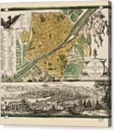 Map Of Florence 1731 Acrylic Print