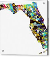Map Of  Florida-colorful Acrylic Print