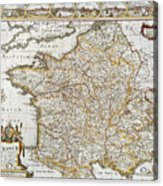 Map Of France, 1627 Acrylic Print