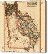 Map Of Georgia 1817 Acrylic Print