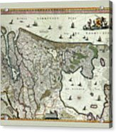Map Of Holland 1682 Acrylic Print