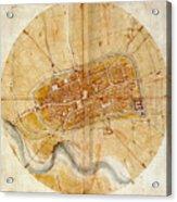 Map Of Imola 1502 Acrylic Print