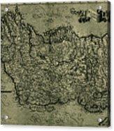 Map Of Ireland 1771 Acrylic Print