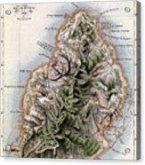 Map Of Mauritius Acrylic Print