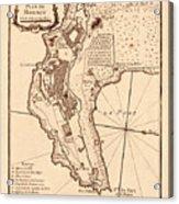 Map Of Monaco 1764 Acrylic Print