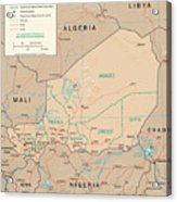 Map Of Niger Acrylic Print
