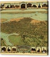 Map Of Oakland 1900 Acrylic Print