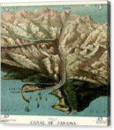 Map Of Panama Canal 1881 Acrylic Print