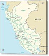 Map Of Peru Acrylic Print